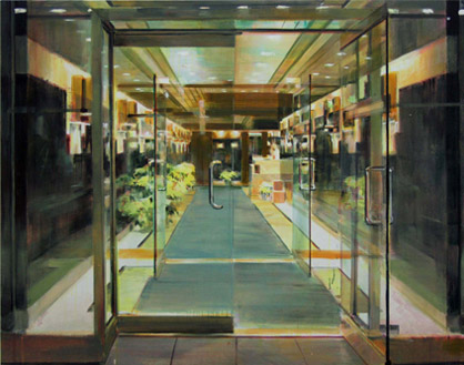 Anja Ganster, LOBBY NYC3, 2008 130 x 165 cm, Acrylic on Canvas